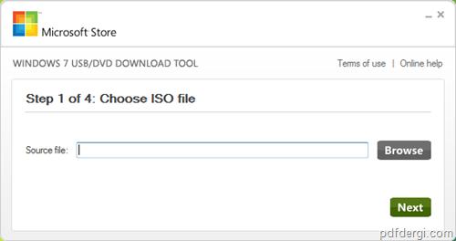 Windows 7 ISO 1 - Windows 7 iso dosyas�n� USB yada DVD ye yazmak
