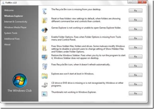 Windows Vistay� Onarma Program� FixWin